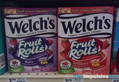 Welch's Berry and Strawberry Fruit Rolls