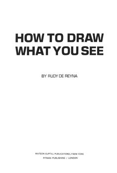 How to draw what you see by Bell Frog