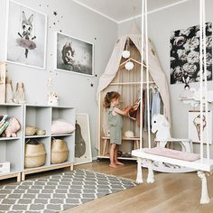 Home Decoration; Home Design; Little Girls; Home Storage;Table setting; Home Furniture; Wall Decoration;Kids Room Source by Room Wall Painting, Dressing Room Design, Cool Kids Rooms, Childrens Beds, Kids Room Design, Little Girl Rooms, Girls Bedroom, Ikea Girls Room, Girls Room Wall Decor
