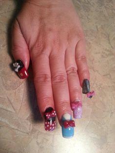 3d Disney nail art