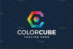 Color Cube - Letter C Logo by yopie on @creativemarket