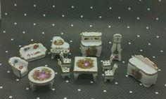Vintage limoges porcelain miniatures set doll house