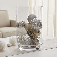 View larger image of Taylor Extra Large Hurricane Candle Holder Christmas Vases, Silver Christmas Decorations, Farmhouse Christmas Decor, Christmas Home, White Christmas, Christmas Candle Holders, Elegant Christmas Centerpieces, Winter Party Decorations, Elegant Christmas Decor