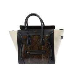 sac cabas celine - Orange Python Mini Celine Luggage Tote $4,800 | Celine Bags ...