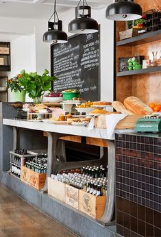 7 Tips to Turn Your Bar into a Modern Industrial Interior Design! Industrial Interior Design, Restaurant Interior Design, Cafe Interior, Industrial Bedroom, Modern Industrial, Vintage Industrial, Coffee Bars In Kitchen, New Kitchen, Snack Bar