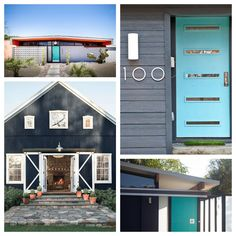Eichler Exterior - top left picture is great - teel, orange and light greys