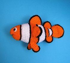 PDF Crochet Pattern CLOWN FISH by bvoe668 on Etsy