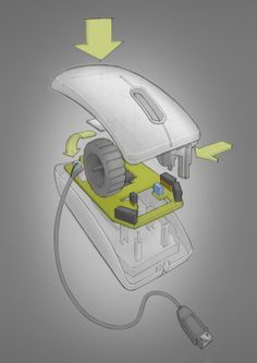 Product Drawing by Chang-Wei Chen, via Behance