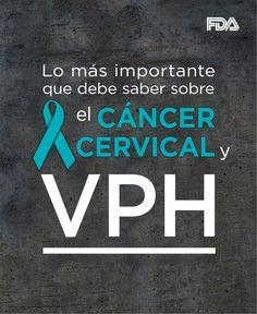 Lo que debe saber sobre el cáncer cervical y el virus de papiloma humano, VPH.  Comparta esta información con las mujeres queridas en vida #salud #mujer