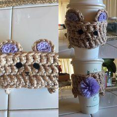 Made to order! Kawaii bear travel mug cozy. #crochetersofinstagram #crochetlove #crochetaddict #artist #art #bear #kawaii #love #cute #creation by undead.glamour