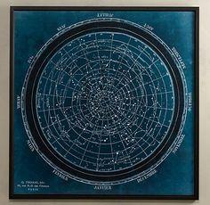 Planisphere Chart from Restoration Hardware.