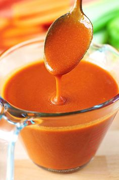 Hot Sauce Recipe ~ A simple homemade hot sauce perfect for chicken wings or other spicy recipes.
