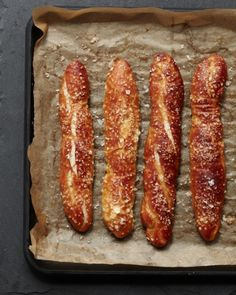 © Lucy Shaeffer German Soft Pretzel Sticks Recipe Contributed by Grant Achatz Click here for full recipe
