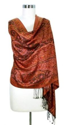 Silk shawl, 'Paisley Sunset' NOVICA. $54.95