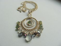 Spinel and Green Amethyst Necklace by BellaBerlinJewels
