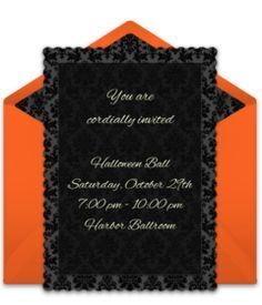 Online Invitations From Halloween Bday Pinterest Halloween