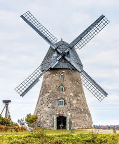 Old windmill near Cesis, Latvia, Europe. Cesis region is beauty spot in Latvia where medieval history meets with marvelous scenic landscapes royalty free stock image Holland Windmills, Old Windmills, Aesthetic Japan, Stock Foto, Le Moulin, Art Pictures, Landscape Photography, Medieval, Around The Worlds