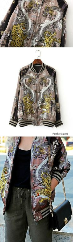 Oriental Bomber Jacket is Available at Pasaboho - $69 ( Free Shipping Worldwide )