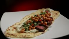 Middle Eastern Lamb with Smoky Baba Ganoush and Flatbread