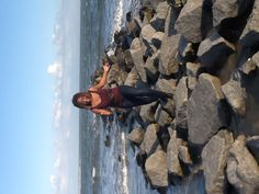 My daughter out on the rocks @ isle of palms in Charleston, SC.
