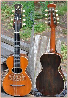 ƒrettedchordophones: Howe – Orme Mandolinetto Model 4 or 5 ca. 1915 =Chordophone of the day - a year ago --- https://www.pinterest.com/lardyfatboy/