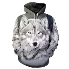 Wolfhdies Time Travel Wolf Fashion Hooded Sweatshirt Dropshipping