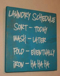 Prefect laundry room art!