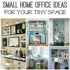 Small Office ideas http://momfabulous.com/2012/07/five-small-home-office-ideas/?utm_content=bufferead2f&utm_medium=social&utm_source=pinterest.com&utm_campaign=buffer