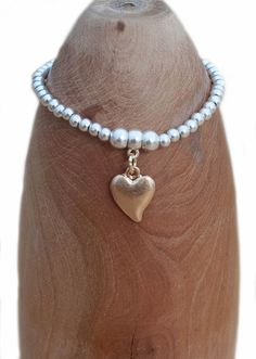Olia gold effect on silver effect beaded bracelet £12.50