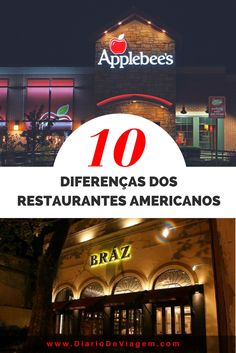 10 diferenças dos restaurantes americanos Golden State, Miami Beach, Empire State Building, Grand Canyon, Florida, California, Disneyland, Broadway Shows, Blog
