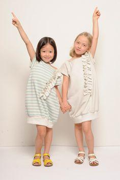 Anais & I. Summer 2012. . .   sweatshirt dresses. . I think I could sew that.