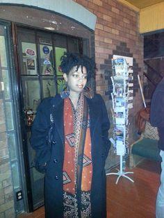 African print chiffon scarf. #9monthspreggo