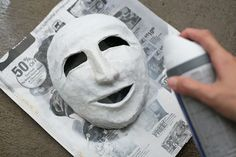 How to Make a Greek Theater Mask (with Pictures)   eHow