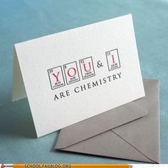 Chemistry love cards.