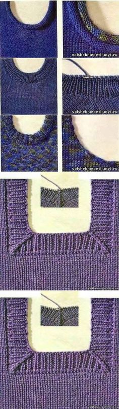 49 ideas for knitting crochet sweater tutorials Knitting Stiches, Knitting Needles, Crochet Stitches, Hand Knitting, Knit Crochet, Tricot D'art, Knitting Patterns, Crochet Patterns, Knitting Projects