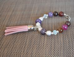 Semiprecious stone bracelet Love bracelet with by NylEssidesigns, $19.99  Free set earrings with the purchase