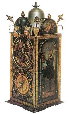 Clock iron with paintings, the second half. XVI., Strassburg (Carinthia), Württemberg Regional Museum.