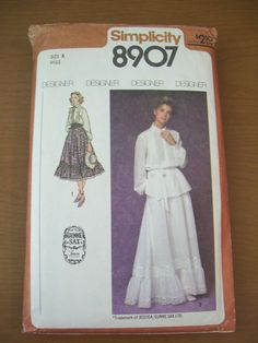 Simplicity Juniors and Misses Gunne Sax Skirt in Two by robynsetsy, $8.00