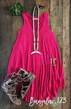 Shaw Dress - Fuchsia