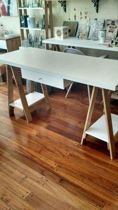 escritorio caballetes laqueado medida a elección