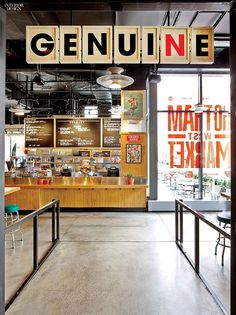 Great signage | NYC's 11th Avenue Gets Gotham Market and Gotham West | Companies | Interior Design