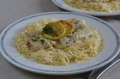 Hankka: Citromos halfilé gyufatésztával Spaghetti, Fish, Ethnic Recipes, Noodle, Ichthys