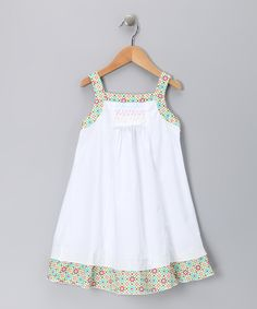 White & Yellow Floral Candy Dress - Infant, Toddler & Girls