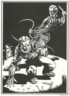 "The only Call of Cthulhu scenario with a cyborg chimp as a premade investigator. ""Horror Planet,"" from Blood Brothers!: Chaosium's book of horror movie-influenced Call of Cthulhu scenarios."