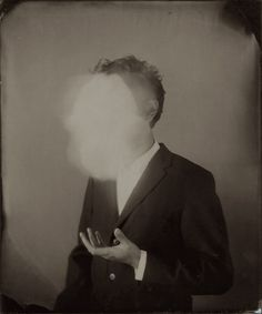 """Ben Cauchi - """"Self-Portrait With Ghosted Object"""", from the series 'In a Smoke Filled Room', 2005"""