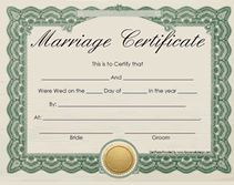 Microsoft Office Marriage Certificate Template  Printable