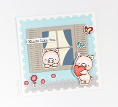 MFT Die-namics Classic Window, BB Hog Heaven stamp set