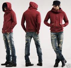 Fashion Korean Men's Slim Fit Sweater Male Jacket/Coat/Sweatshirt/Top M-XXL #156   eBay