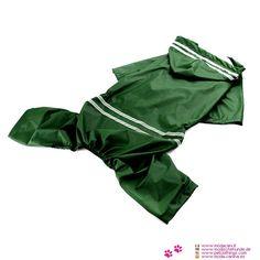Regenjacke 4 Pfoten für Mittelgroße Hunde (Labrador, Golden Retriever, ..) in Grün