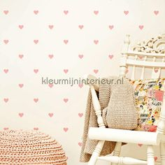 Roze hartjes voor jou 351747 | behang Hits 4 Kids van Eijffinger | kleurmijninterieur.nl